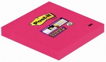 , Memoblok 3M Post-it 654 Super Sticky 76x76mm poppy