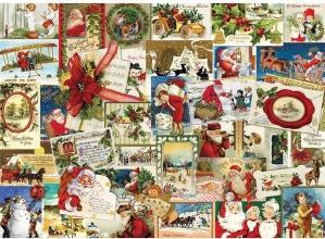 Eur 6000-0784 , Puzzel 1000 stukjes vintage christmas cards