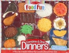 Melissa & Doug Food Fun Combine & Dine Dinners - Blue