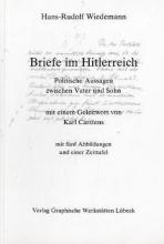 Wiedemann, Hans R Briefe im Hitlerreich
