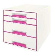 , Ladenblok Leitz WOW 4 laden wit/roze