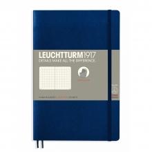 Lt358318 , Leuchtturm notitieboek softcover 19x12.5 cm bullets/dots/puntjes marineblauw