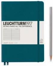 , Leuchtturm notitieboek softcover 19x12.5 cm lijn pacific groen