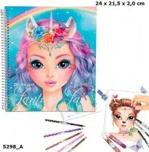Create your fantasy face colouring