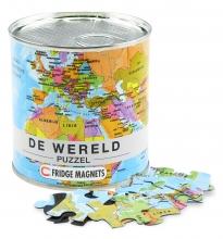 , Wereld puzzel magnetisch