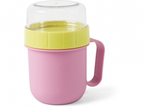 , Quarto colori on the go lunch box roze/lime