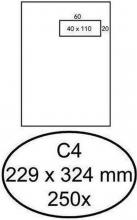 , Envelop Hermes akte C4 229x324mm venster 4x11 rechts zelfkl 250st