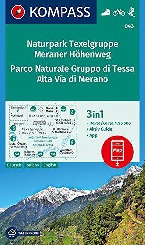 ,Naturpark Texelgruppe, Meraner Höhenweg, Parco Naturale Gruppo di Tessa, Alta Via di Merano 1 : 25 000