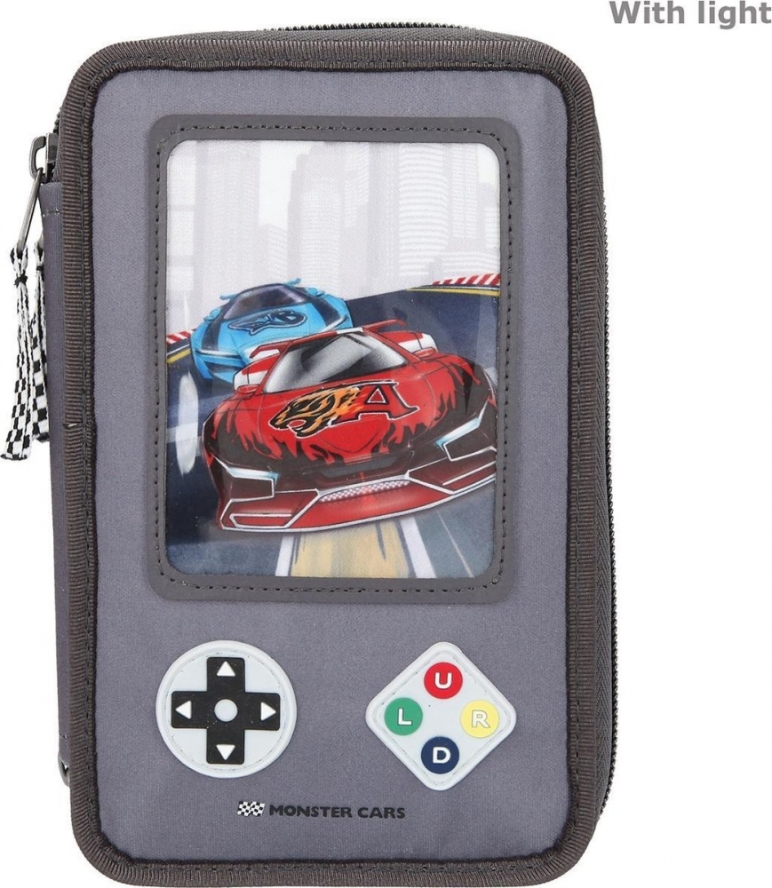 ,Monster cars 3-vaks etui gamer