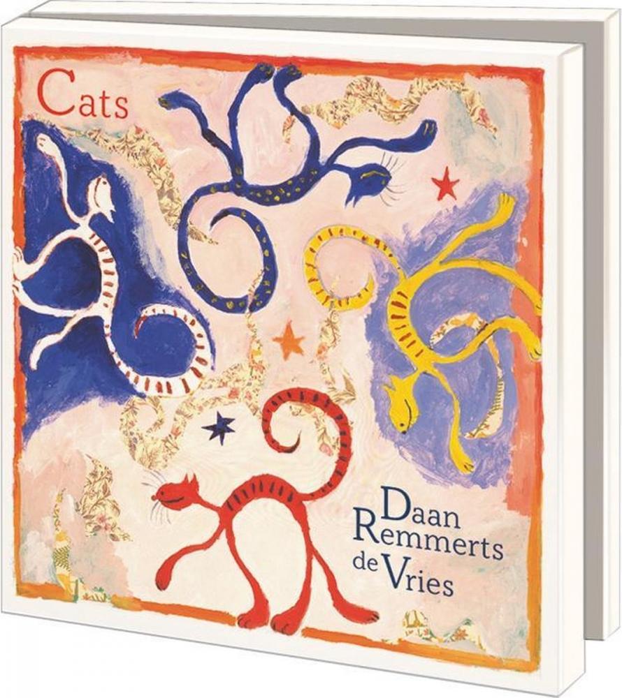 Wmc1019,Notecards 10 stuks 15x15 cats daan remmerts de vries
