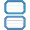 , Etiket Herma 5714 82x55mm schrift blauwe rand 12stuks