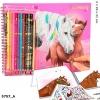 , Miss melody kleurboek met kleurpotloden
