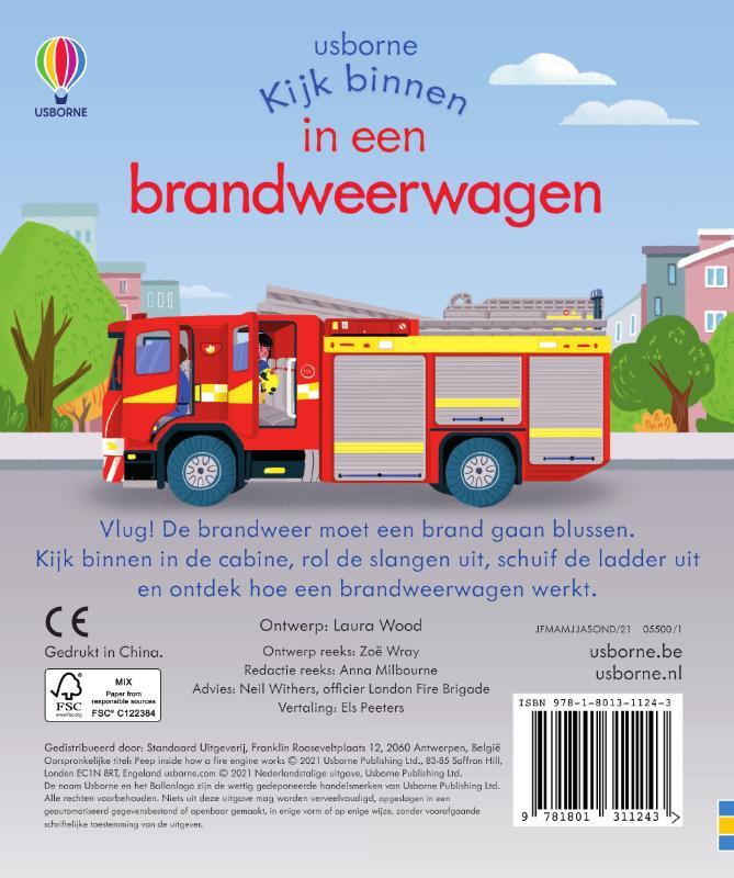 ,In een brandweerwagen