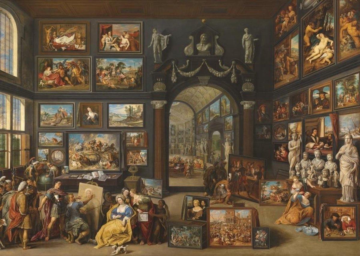 ,Puzzel kunstgallerij 2 - willem van haecht- ( mauritshuis ) 1000 stuks