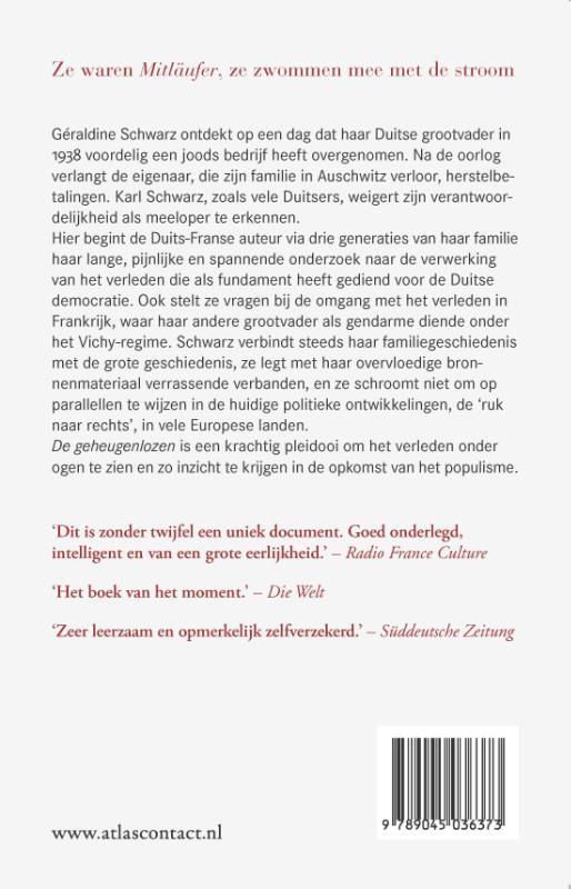 Géraldine Schwarz,De geheugenlozen