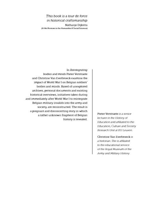 Pieter Verstraete, Christine Van Everbroeck,Reintegrating bodies and minds