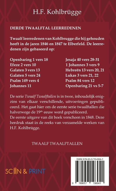 H.F. Kohlbrügge,Twaalftal Leerredenen I - 3