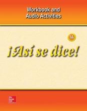 Schmitt, Conrad J. ¡así Se Dice! Level 1a, Workbook and Audio Activities