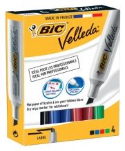 , Viltstift Bic 1781 whiteboard schuin ass 3.2-5.5mm set à 4st