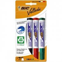 , Viltstift Bic 1704 whiteboard rond assorti 1.4mm blister à 4 stuks