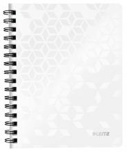 , Notitieboek Leitz WOW A5 lijn spiraal PP wit