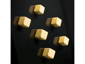 , magneet voor glasbord Sigel 10x10x10mm Goud sterk 6 stuks