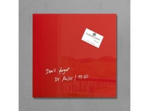 , glasmagneetbord Sigel Artverum 300x300x15mm rood