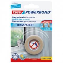 , Powerbond Tesa 55743 montagetape transp 19mmx1,5m
