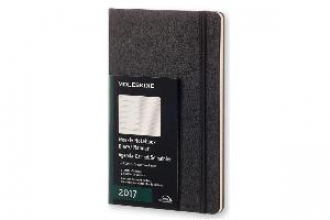 Moleskine 12 month planner - weekly - large - black - hard cover