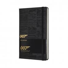 , Moleskine LE Notitieboek James Bond Large (13x21 cm) Gelinieerd Titles