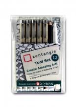 , Fineliner Sakura Zentangle tool set 12delig