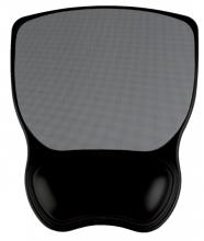 , Muismat Quantore met gel polssteun grijs/zwart