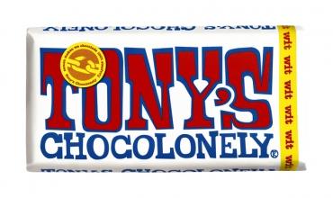 , Chocolade Tony`s Chocolonely reep 180gr wit