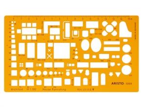 , architecten meubelsjabloon Aristo schaal 1:100