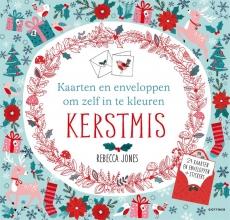 Rebecca  Jones KERSTMIS - Kaarten en enveloppen om zelf in te kleuren