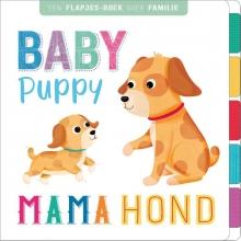 Baby puppy, mama hond