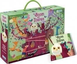 , Een boom vol dieren - boek + giga puzzel