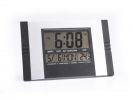 ,klok TIQ digitaal 285 x 190 mm kunststof zwart/zilver