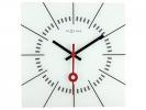 ,Wandklok NeXtime 35 x 35 cm, glas, wit, `Stazione`