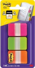 , Indextabs 3M Post-it 686 25.4x38mm strong assorti