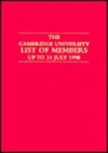 University of Cambridge Cambridge University List of Members