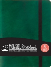 Hide Stationery Ltd Monsieur Notebook Green Leather Ruled Small