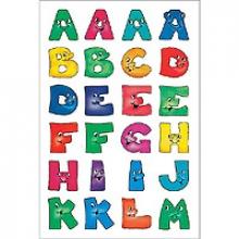 , Etiket Herma 4194 28mm letters a-z gezichten 48stuks