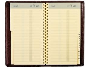 , Adresboek Notaphone Palermo spiraal zwart