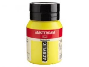 , Talens amsterdam acrylverf pot 500 ml. primairgeel 275