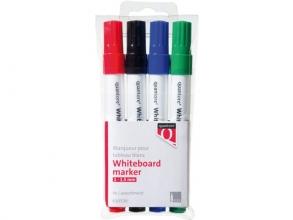 , Whiteboardstift Quantore rond 1-1.5mm 4stuks assorti