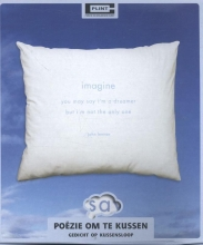 , John Lennon gedicht;Imagine,op kussensloop SL25