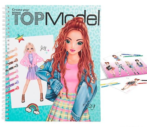 ,Topmodel create your kleurboek
