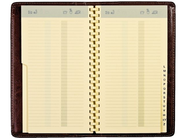 ,Adresboek Notaphone Palermo spiraal zwart