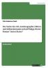 Vaziri, Fritz Hubertus, Die Suche des Ich. Autobiographie, Fiktion und Selbsterkenntnis in Karl Philipp Moritz` Roman